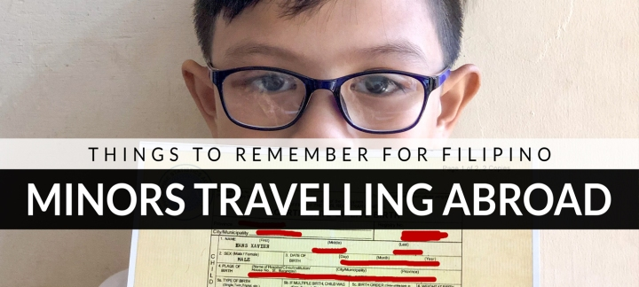 Things to remember for Filipino minors traveling abroad